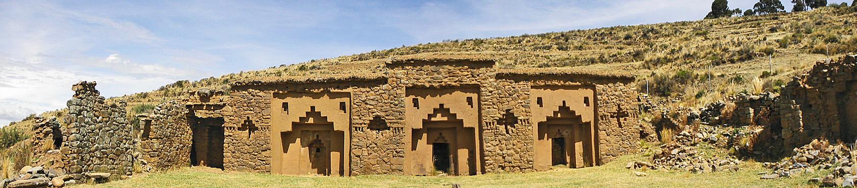 Chakanas auf der Insel des Mondes im Titicacasee
