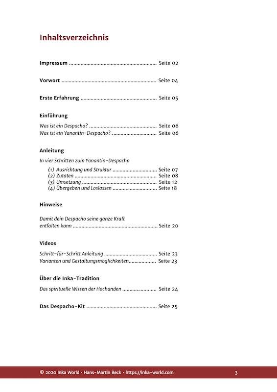 Inhaltsverzeichnis des Online-Kurses Deine spirituellen Paten
