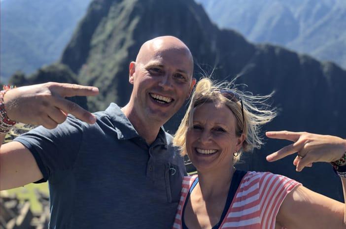 Elke Steinbach und Hans-Martin Beck in Machu Picchu