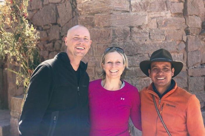 Die Inka-Meister Hans-Martin Beck, Elke Steinbach und Fredy Conde Huallpa führen jedes Jahr zusammen die spirituelle Reise Magisches Peru durch