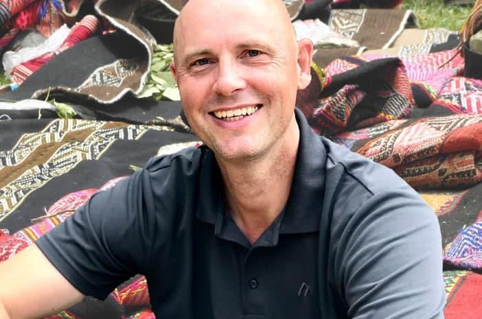 Hans-Martin Beck mit Inka-Decken