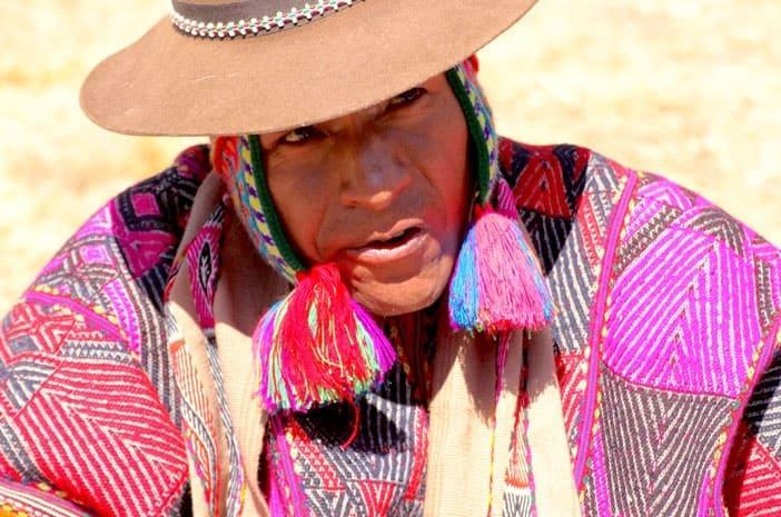 Der Inka-Meister, Schamane und Heiler Ricardo Apaza Flores, ein Q'ero-Indianer aus den Hochanden von Peru