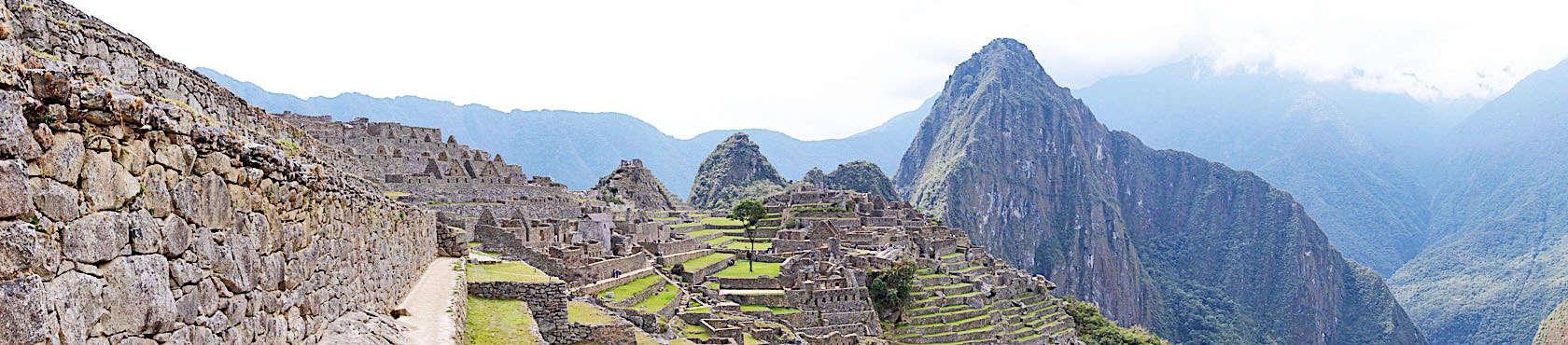 Machu Picchu Panoramaansicht