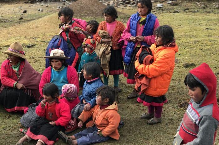 Q'eros, die indigene Bevölkerung der Hochanden von Peru, und Nachfahren der Inkas