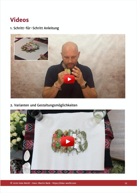 Videos im Online-Kurs mit Anleitung für ein Despacho