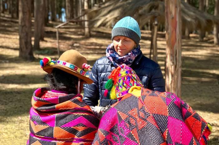 Zeremonie mit Inka-Meistern